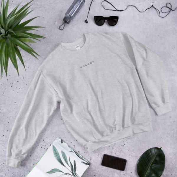 grey dog mom sweater