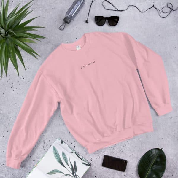 pink dog mom sweater