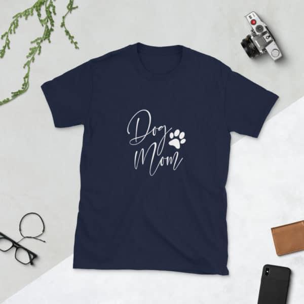 """blue """"dog mom"""" tshirt"""