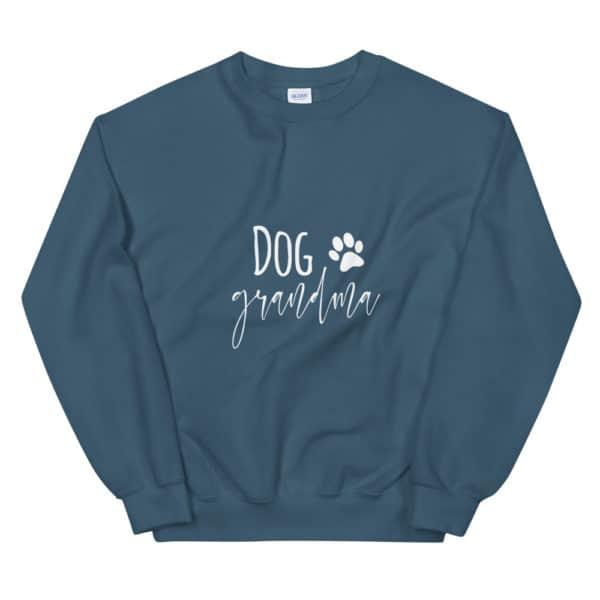 "teal ""dog grandma"" sweater"