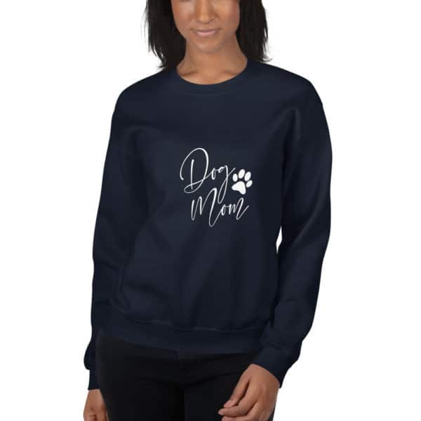 "black ""dog mom"" sweater"