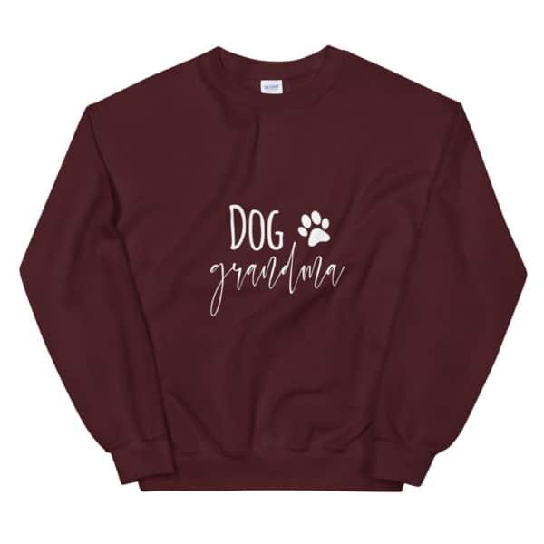 """purple """"dog grandma"""" sweater"""