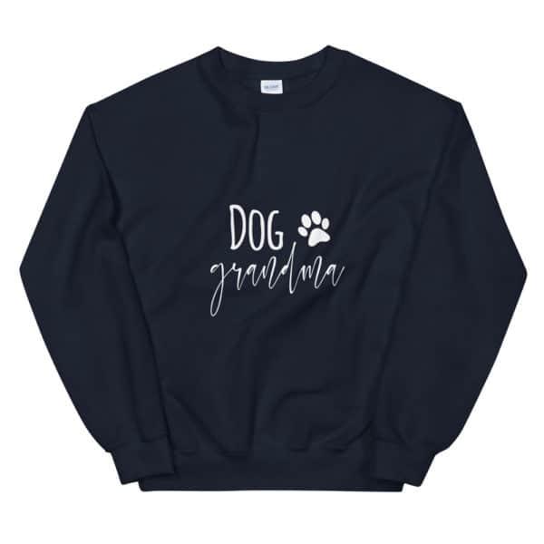 """black """"dog grandma"""" sweater"""