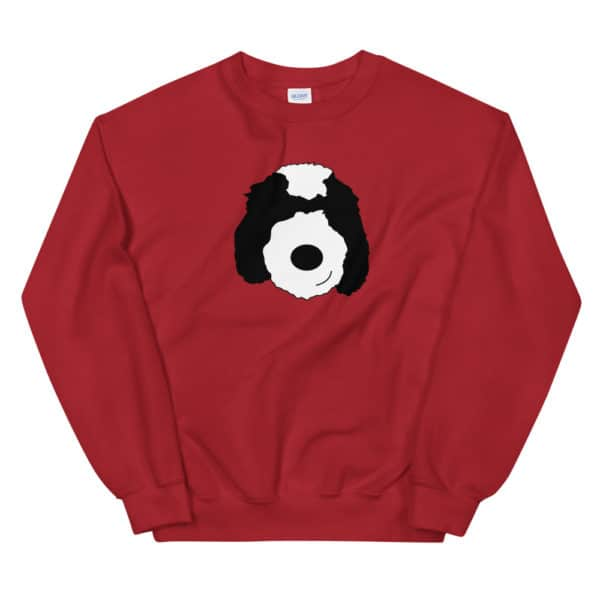 dog sweater with cartoon dog face
