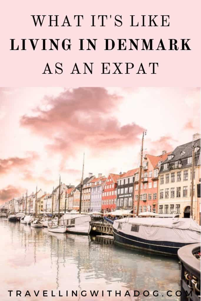 image with text overlay: what it's like living in denmark as an expat